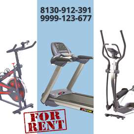 Treadmill, Cross Trainer, and Spinning Bike on Rent in Gurgaon