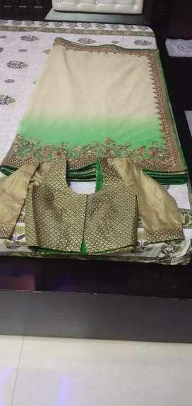 Thread work saree