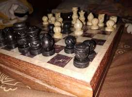 Marble chess board, rajasthani work, 75 years old