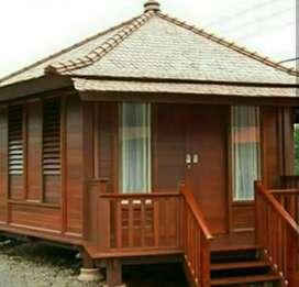 Rumah saung kayu klapa