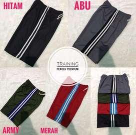 Celana training pendek tebal premium murah