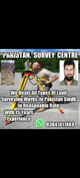 Land surveyor with instruments