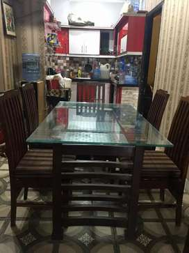 Second hand 6 seater dining table Available::