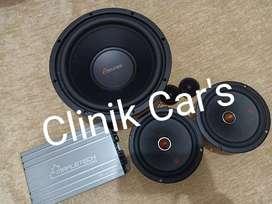Audio mobil full set mapletech (subwoofer 10inch, power &speaker)**