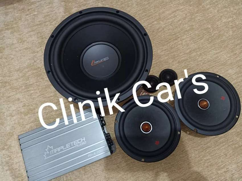 Audio mobil full set mapletech (subwoofer 10inch, power &speaker)** 0