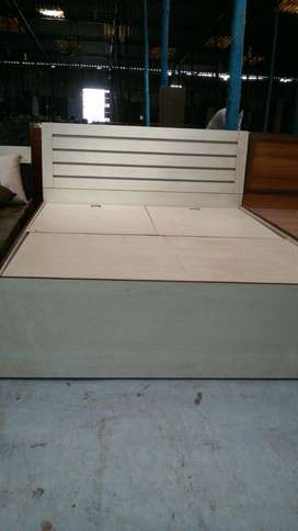 Bed with storage .