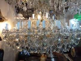 Lampu gantung kristal ceko cabang 48