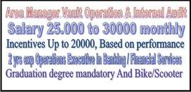 Graduation Only 2 yrs exp Area Manager Operations Executive And Bike/S
