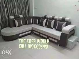 Telephone design leather touch fabric sofa