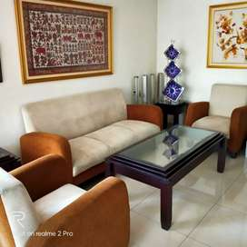 Sofa dan Meja 1 Set Furniture Kayu Jati