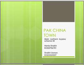 "Plots available in ""PAK CHINA TOWN"""