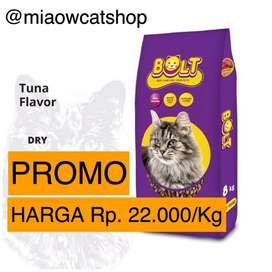 PROMO makanan kucing bolt tuna murah