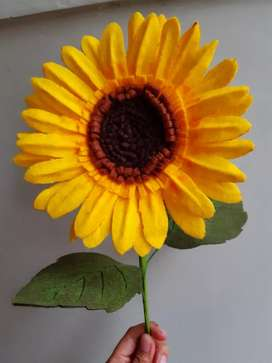 Bunga matahari flanel