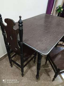Rosewood Dining Table with chairs