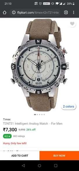 Timex original watch with bill box