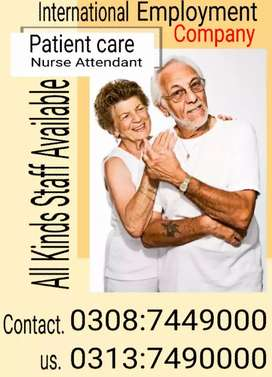 Patient care housekeeping All staff available