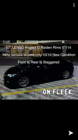 17 inch Civic Lenso S2 Project D both  Rims Tyres for Sale
