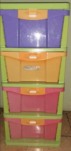 Laci Cabinet Plastik Constatine 4 Susun