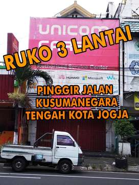 Disewakan / Dikontrakkan Ruko Pinggir Jalan Raya Tengah Kota Jogja