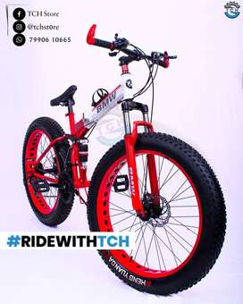 TCH BRAND NEW BM X6 FAT TYRE FOLDABLE  BICYCLE WITH 21SHIMANO GEARS
