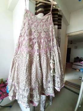 Embroidered lehenga  with full hand blouse and  Dupatta