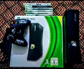 Xbox 360 Slim 250gb (modified with games)