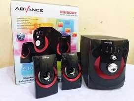 Speaker woofer bluetooth advance m250bt + fm + usb + sd card