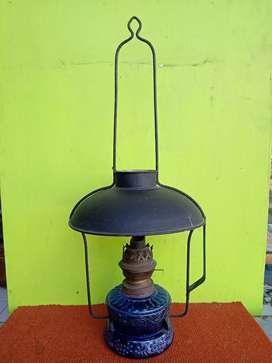 Lampu camerco Petromak  jadul biru modifikasi energi listrik