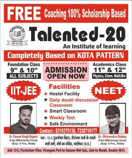 Need receptionist for Talented-20 Coaching institute.