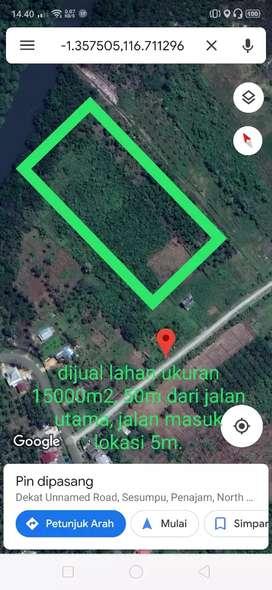 Jual tanah, lahan datar berada di tengah pemukiman