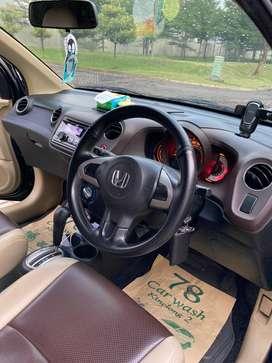 Jual Honda Brio 1.2 E Tahun 2014 Warna Hitam Mulus