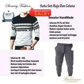 AM00188 Celana Setelan Satu set Sweater dan celana jogger