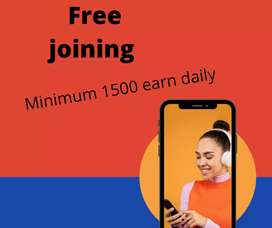 Free joining EARN Minimum Rs 1500 Daily koi hidden charge nahhi