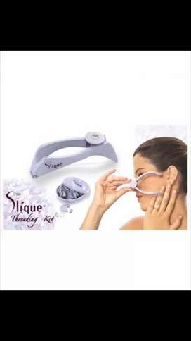 Slique face and body hair threading system.