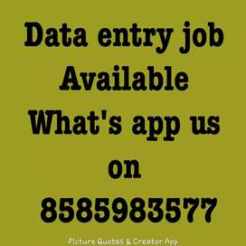 Part time data entry work available for home based job