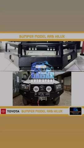 Bemper model pipa loop/tanduk besi/bumper/hilux/triton/ranger/dmax/DLL