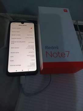 Xiaomi redmi note 7 128gb hitam fulset normal
