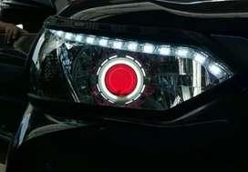 Custom Lampu Projie HID Mobil Super Terang Mantap