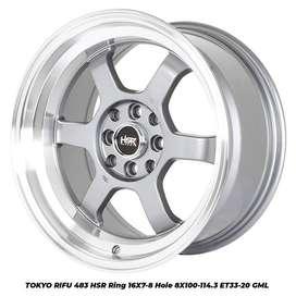 velg mobil hsr tokyo rifu r16x7/8 hsr wheel