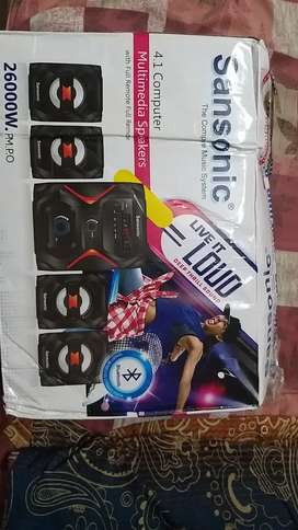 Sansonic 4.1 speakers with bluetooth and fm features urgent sell