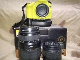 Nikon D3200 Bg+Silicone 2 lensa