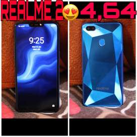 Realme 2 ram-4,rom-64   1year old , with box ,charger and bill