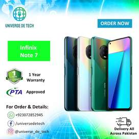 Infinix Note 7 - 4/64 (New -Box Pack - PTA Approved -1 Year Warranty)