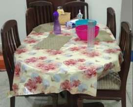 Dinning Table Deal (Dinning with Chairs,Foam Cushions & Cushion Cover)