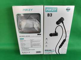 Headset bluetooth bergaransi pinzy b3 original