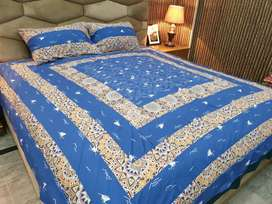 Embriodered 3pc Bedsheets