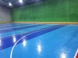 Spesialist lapangan futsal interlock vinil dan rumput