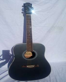 Latest Acoustic Guitar Jumbo 41 Inches withoutCut - Hanks black