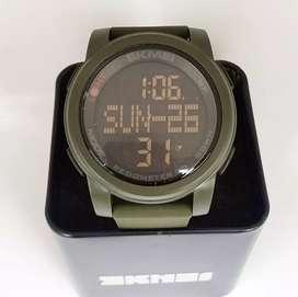 SKMEI 1317 Army Green Pedometer ORIGINAL waterresist jam tangan malang