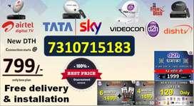 LOWEST PRICE DTH TATASKY, VIDEOCON D2H, AIRTEL DIGITAL, FREE DISH TV
